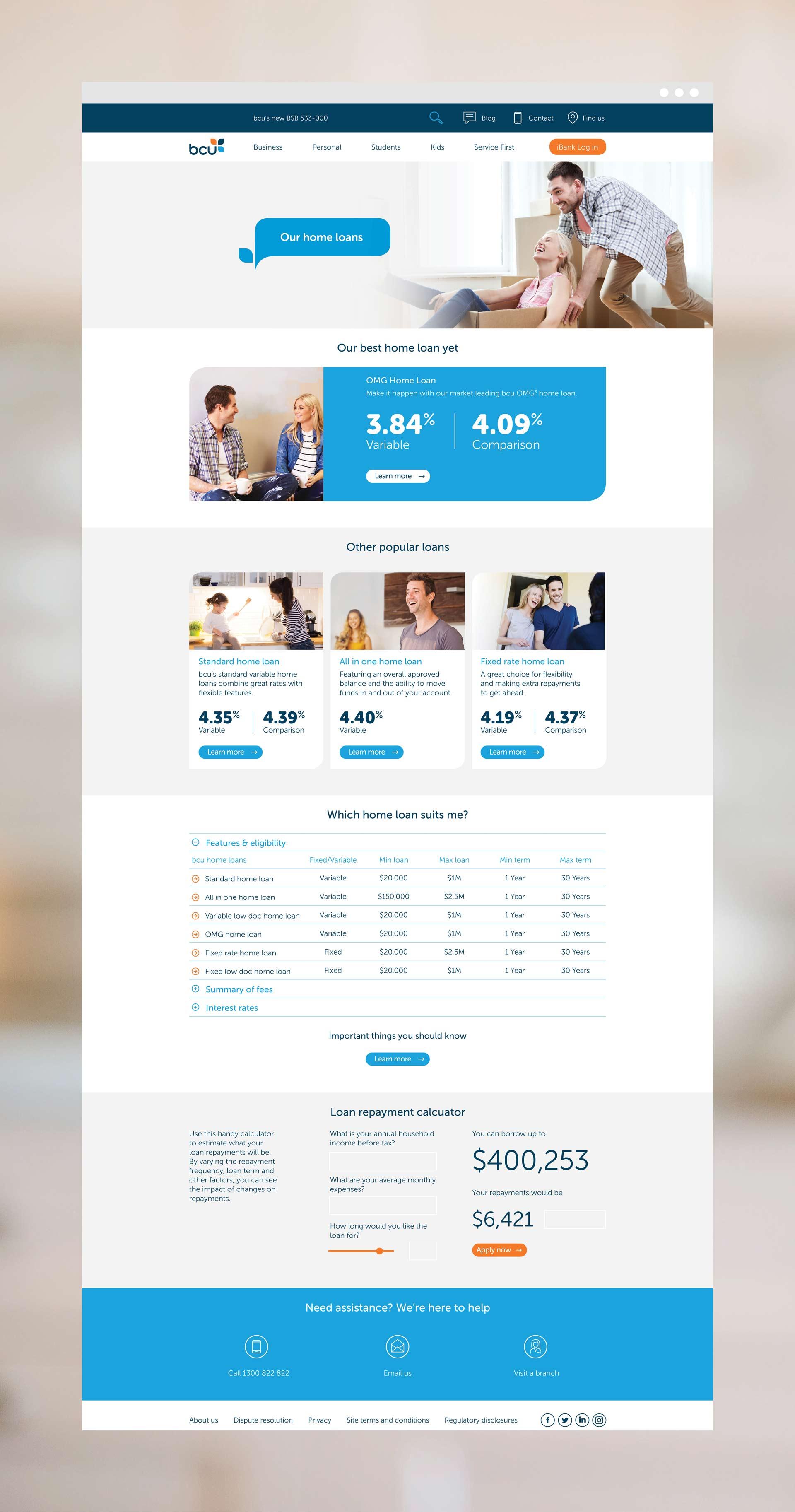 bcu Website Interface Design