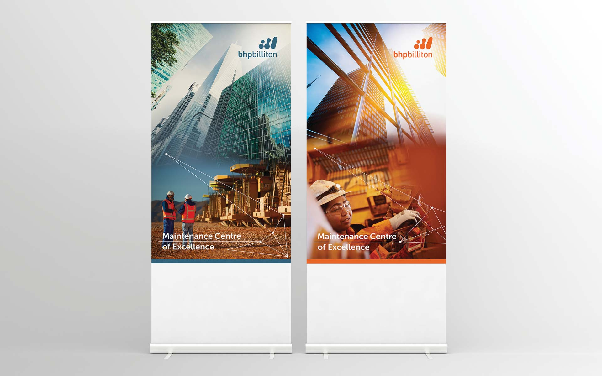 BHP brochure design Pull-up Banner Design