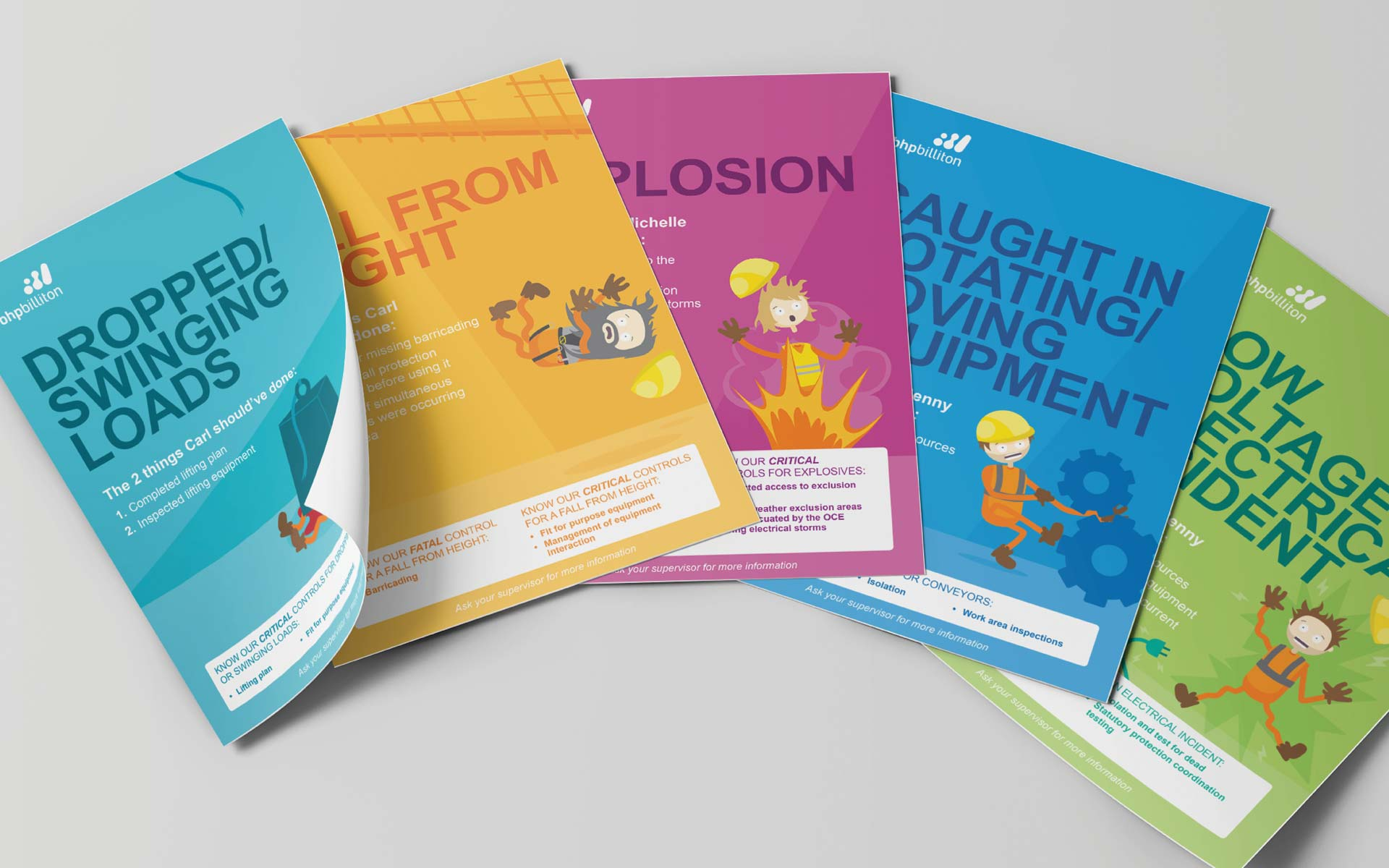 BHP brochure design Safety Posters