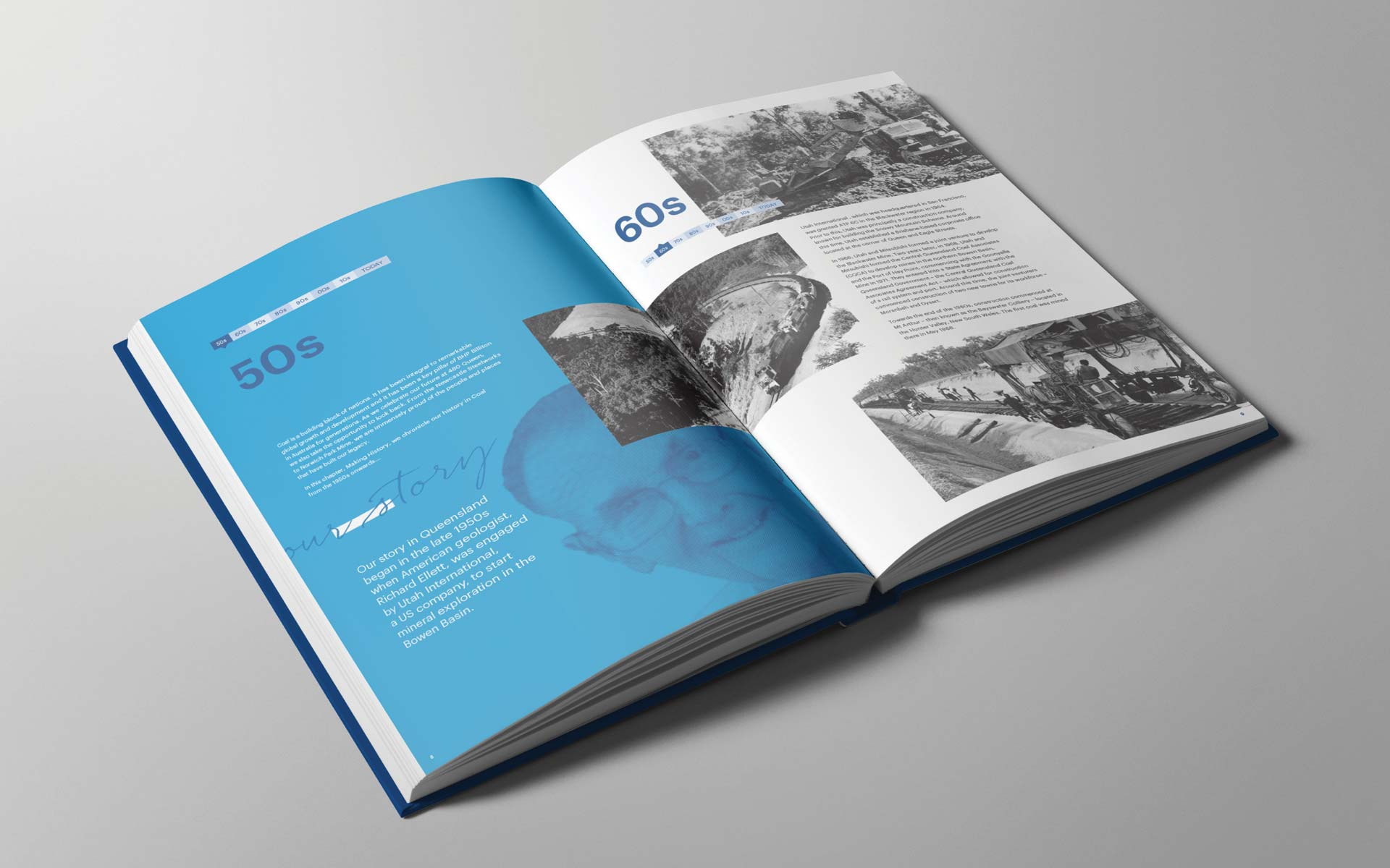 BHP brochure design Commemorative Book 2