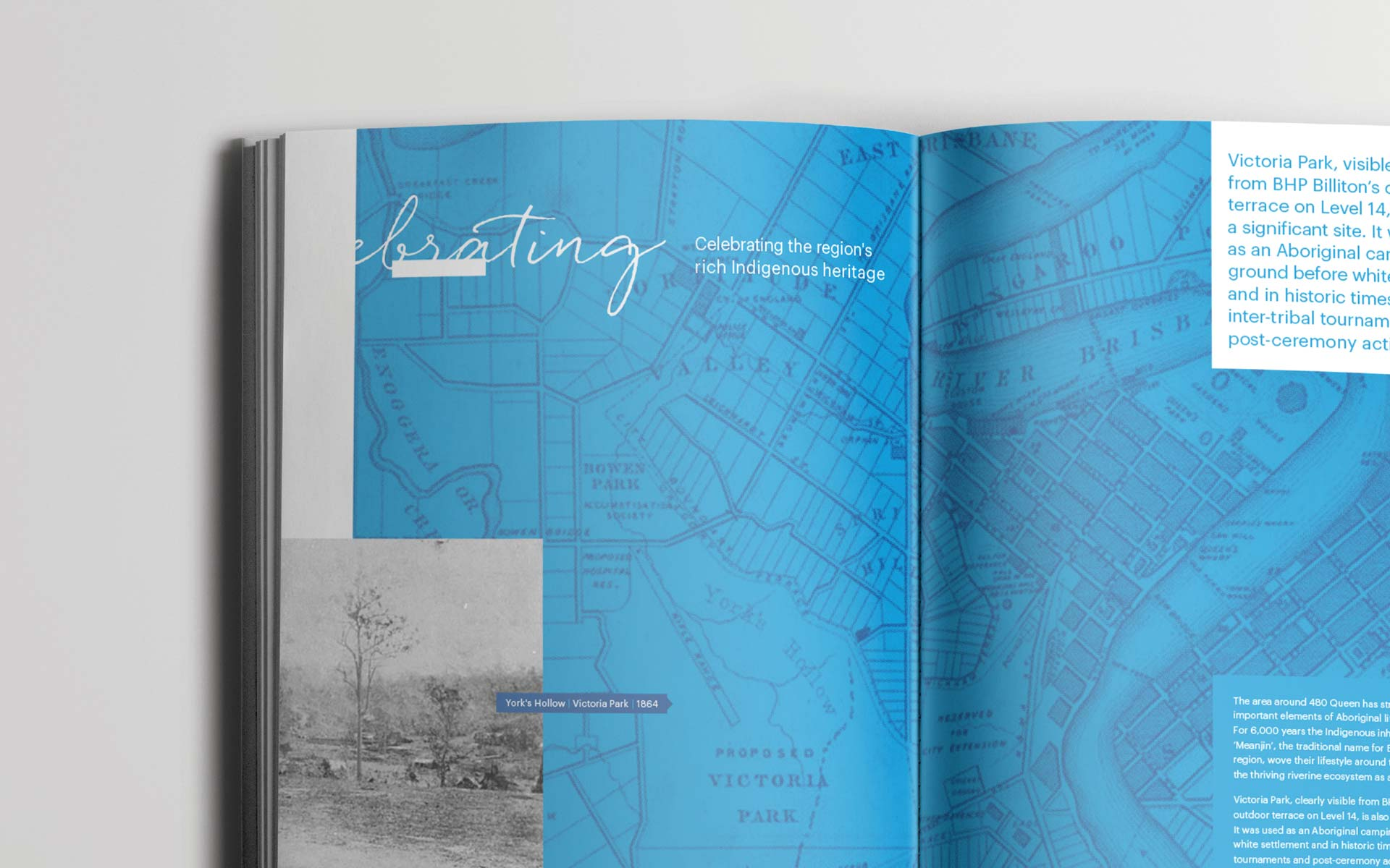 BHP brochure design Commemorative Book