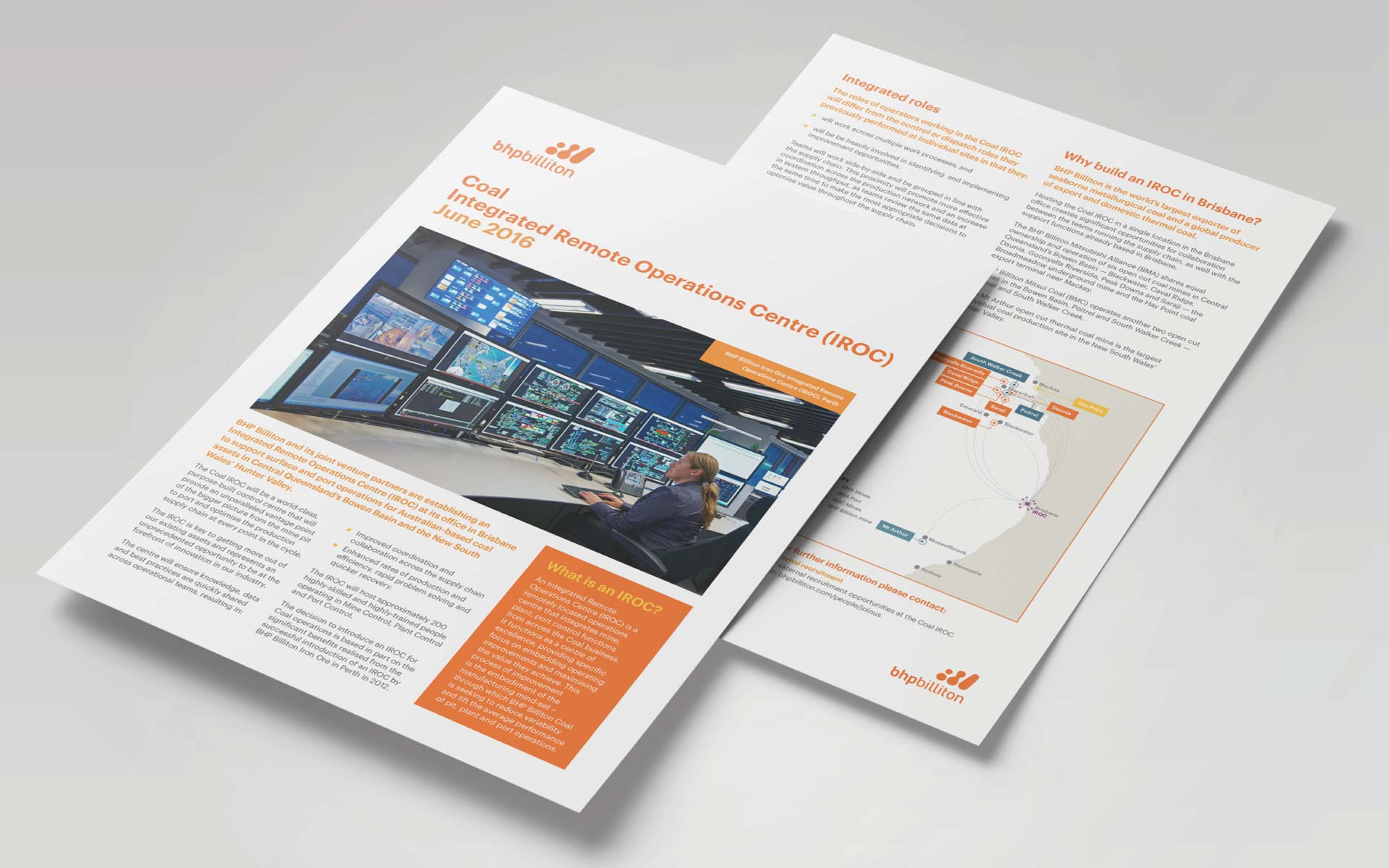 BHP brochure design Fact Sheet Design