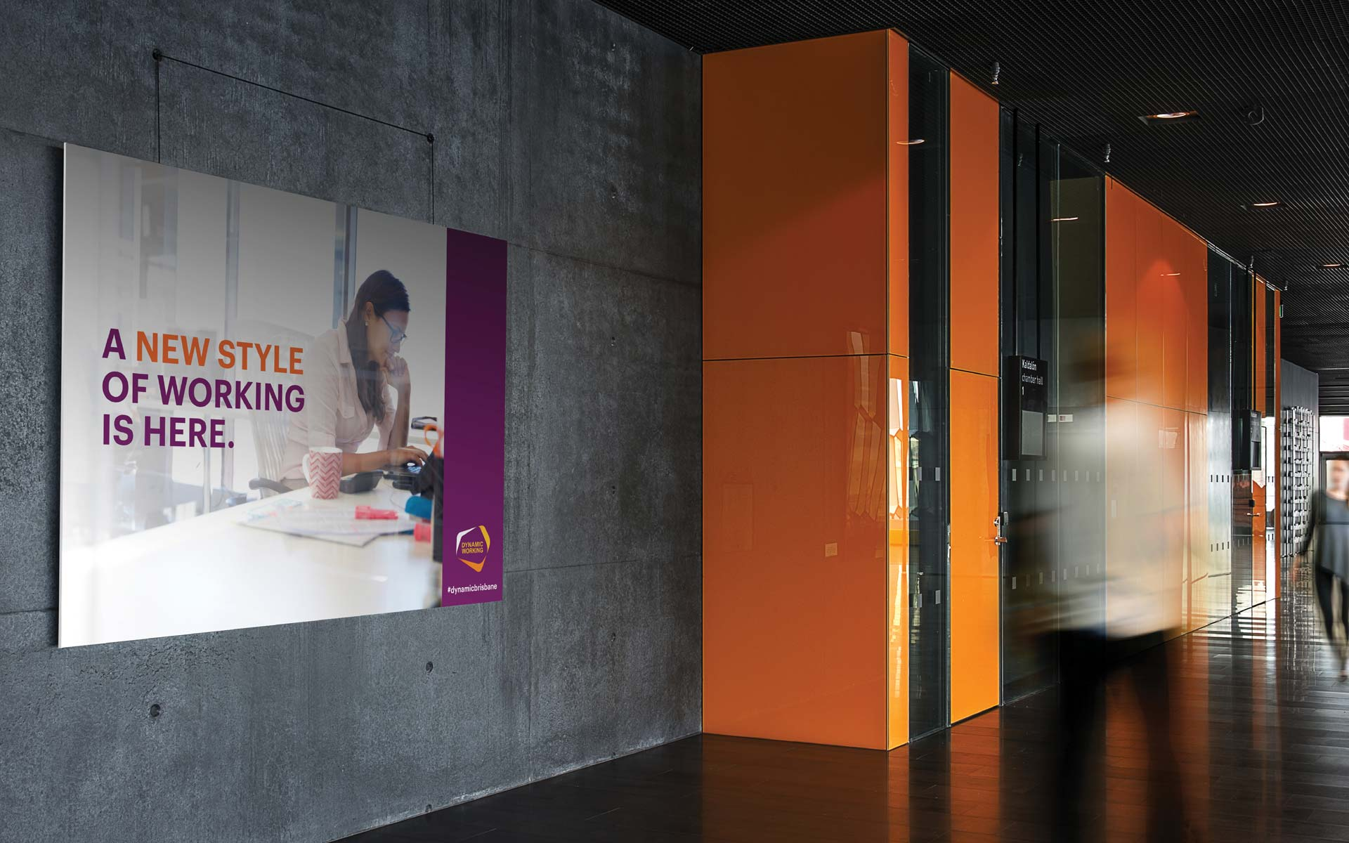 BHP brochure design Dynamic Workplace Screens