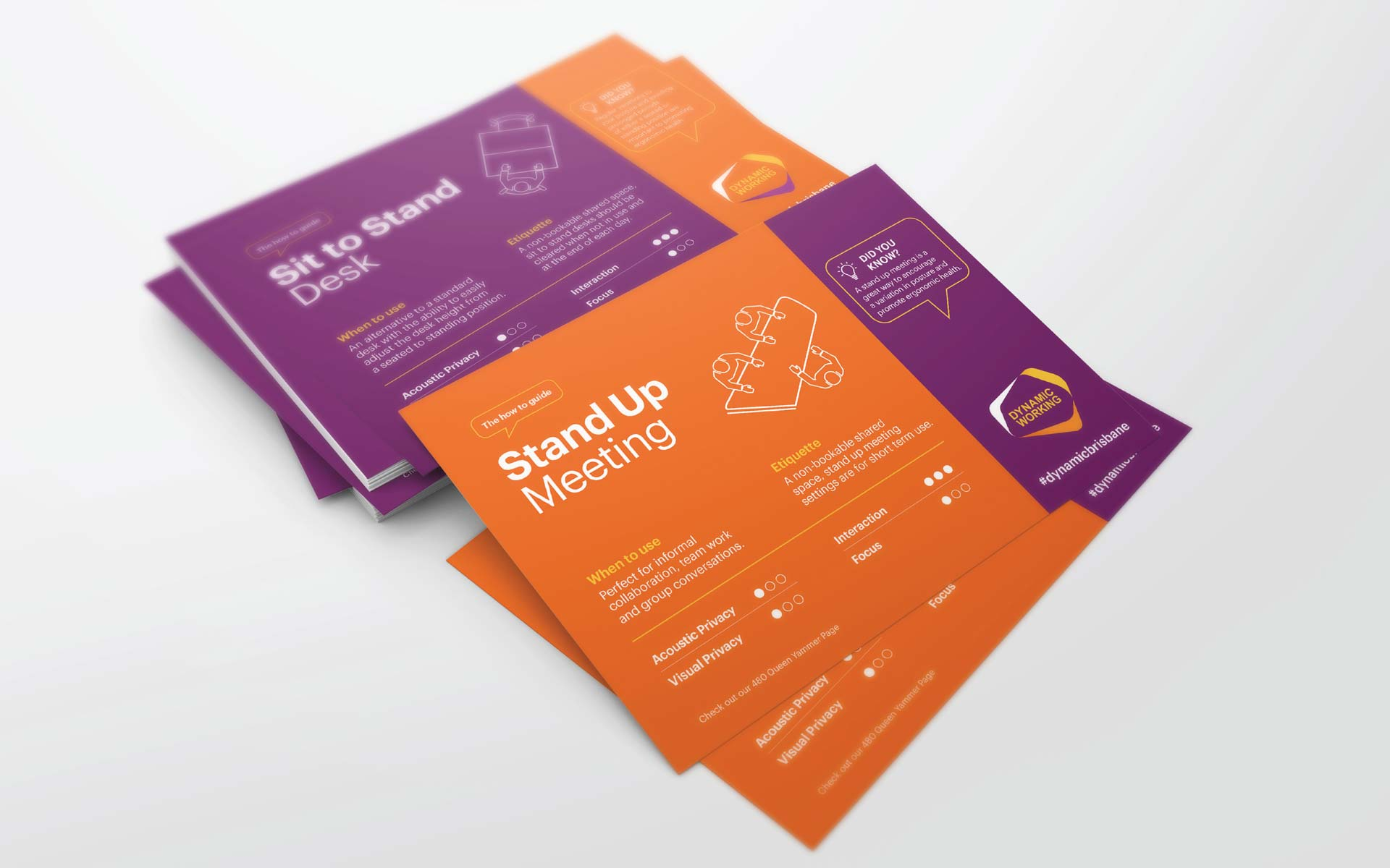 BHP brochure design Dynamic Workplace Furniture Stickers