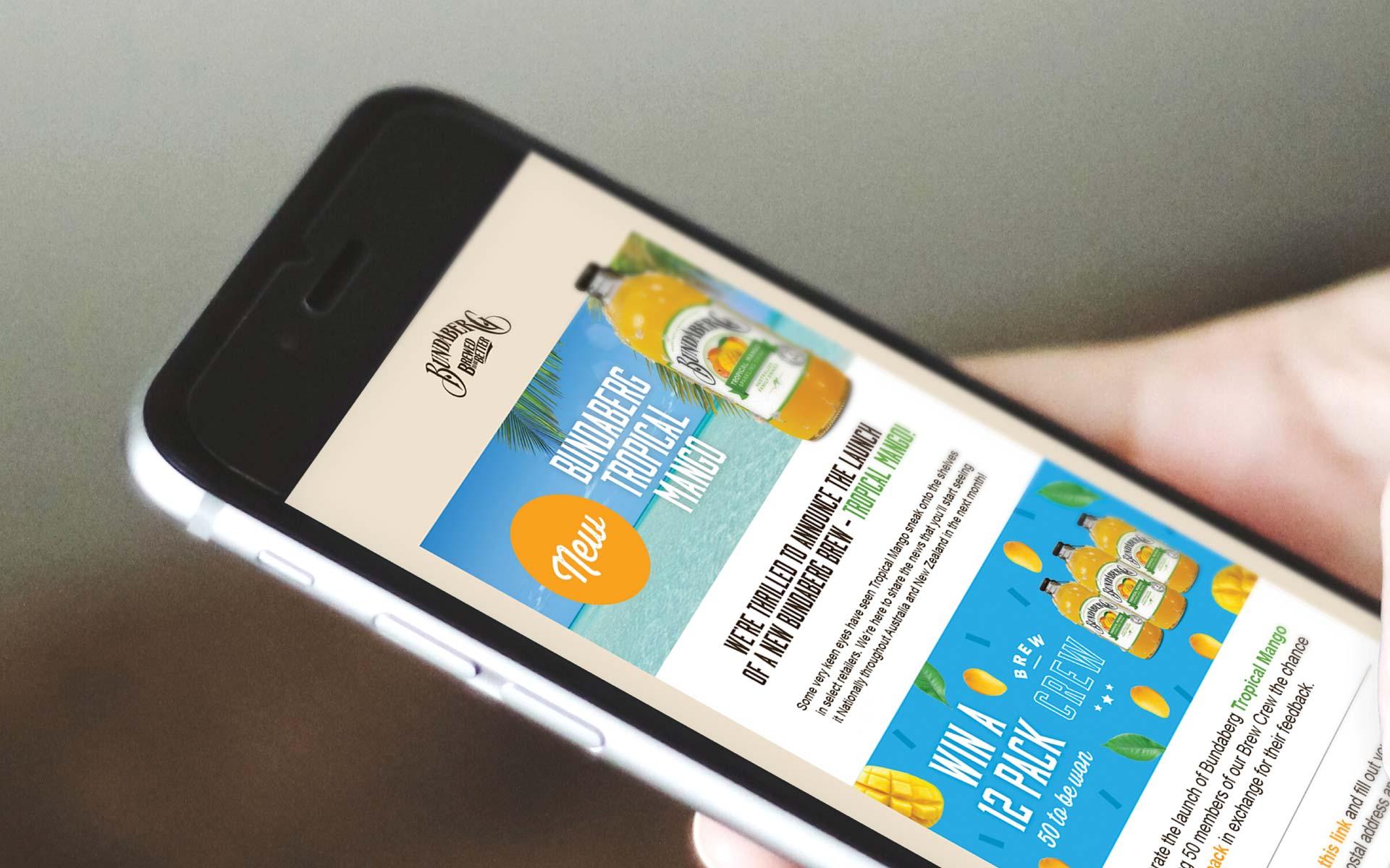 Bundaberg Brewed Drinks Digital Design eDM design