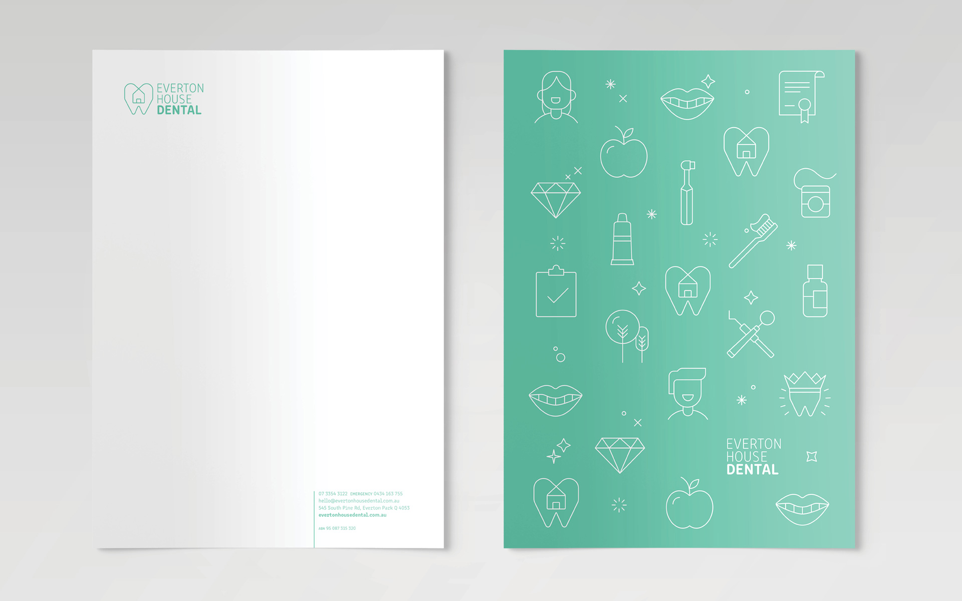 Everton House Dental Web Design Letterhead