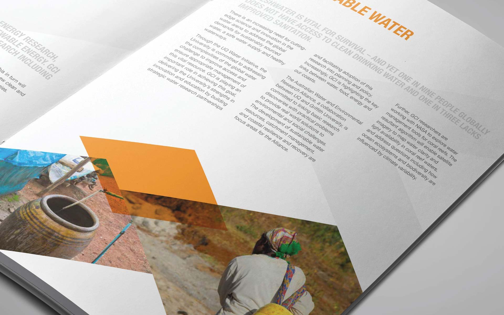 global change institute interior branding design corporate document