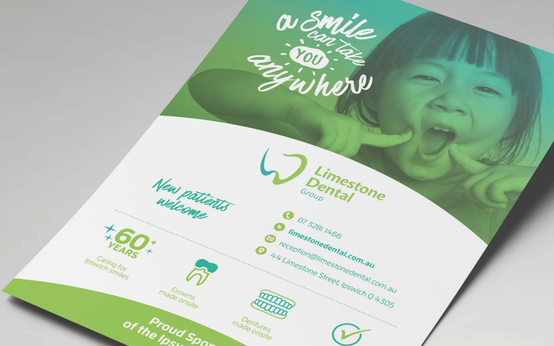 Limestone Dental Group Stationery Design Sponsorship Ad