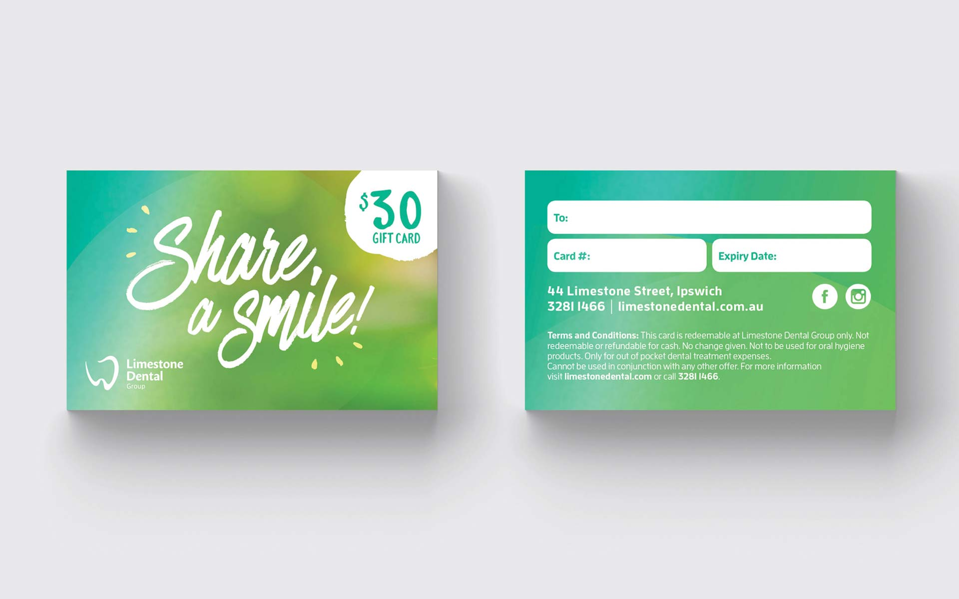 Limestone Dental Group Stationery Design Appointment Card