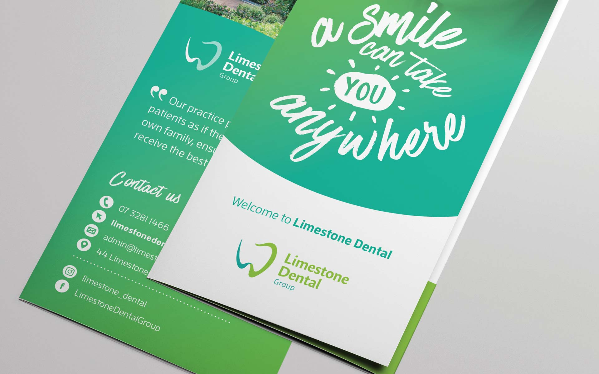 Limestone Dental Group Stationery Design Brochure Design