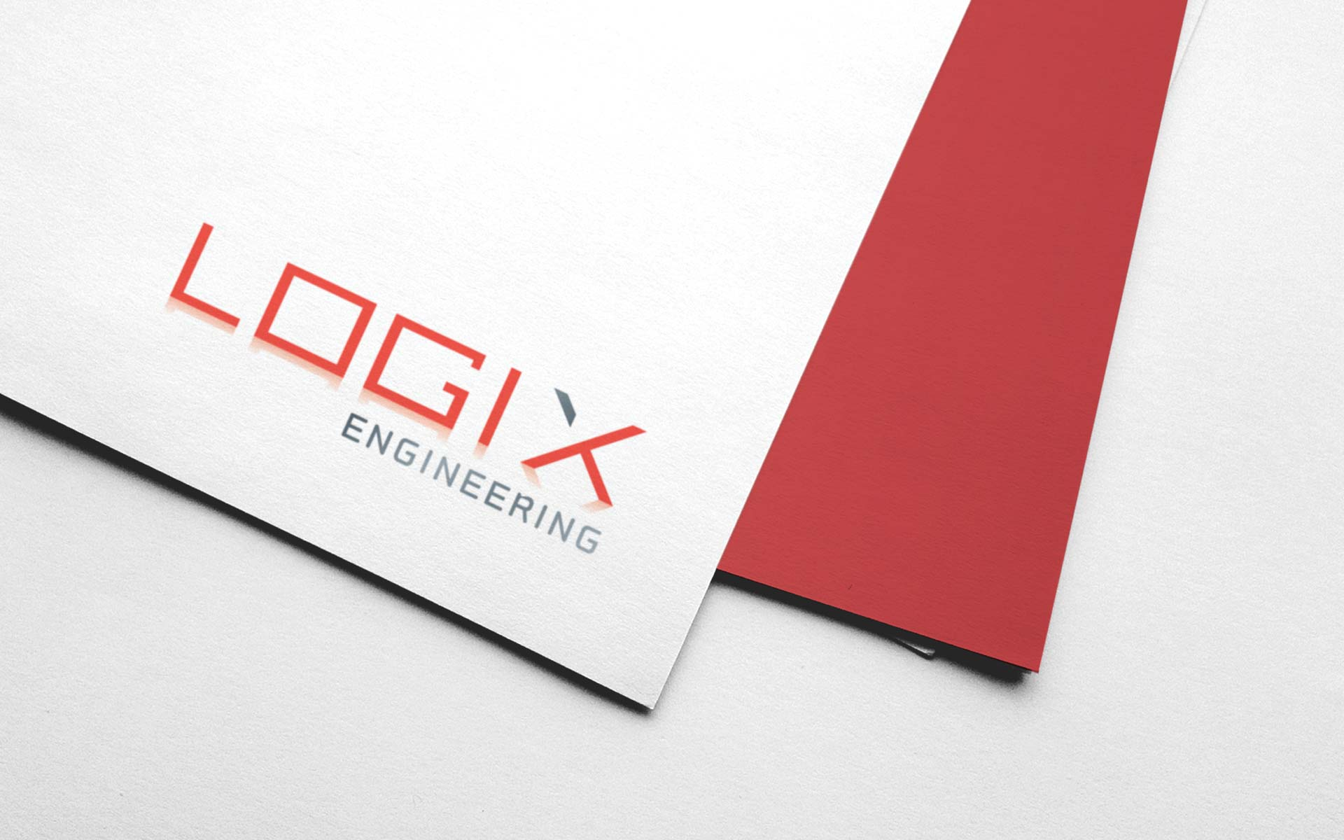Logix Engineering Flyer Design Logo
