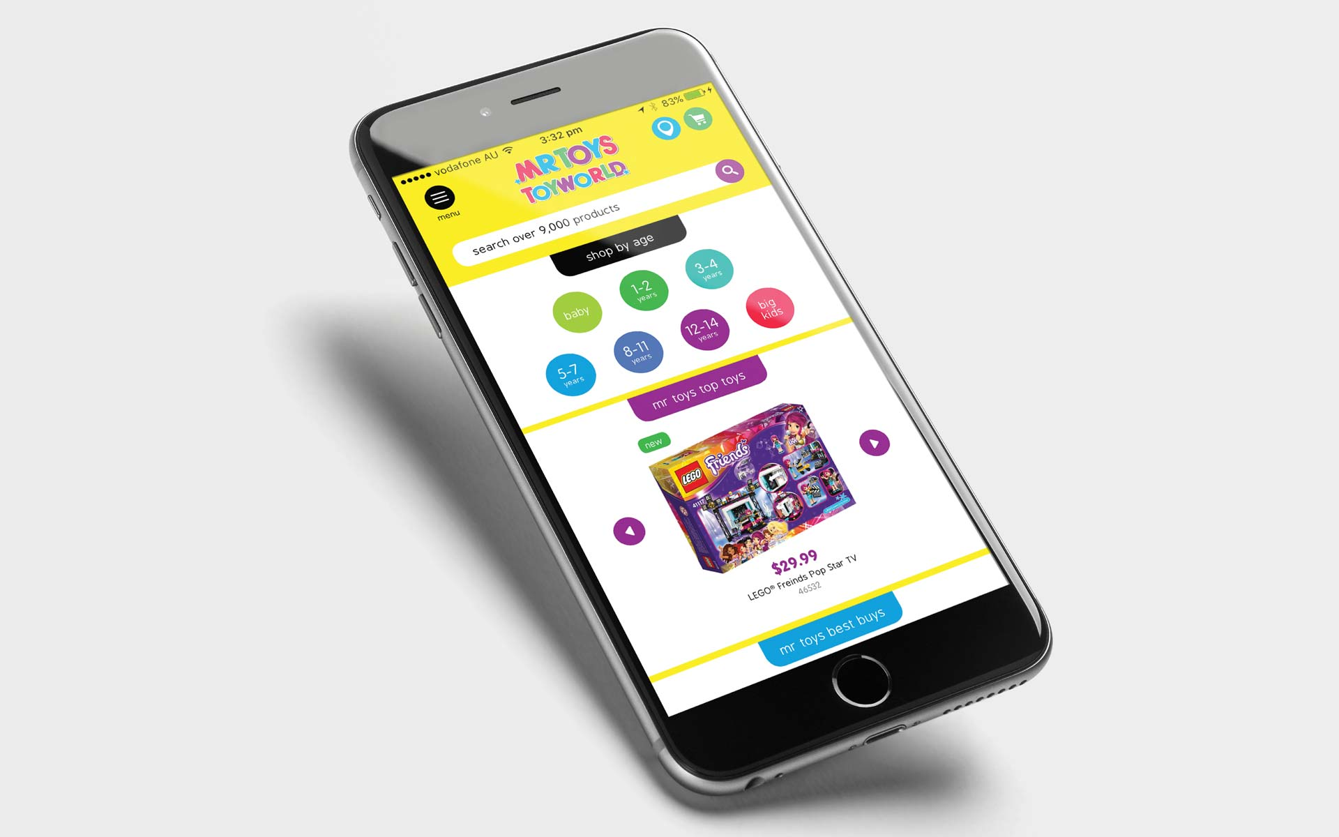 Mr Toys catalogue design Mobile Website