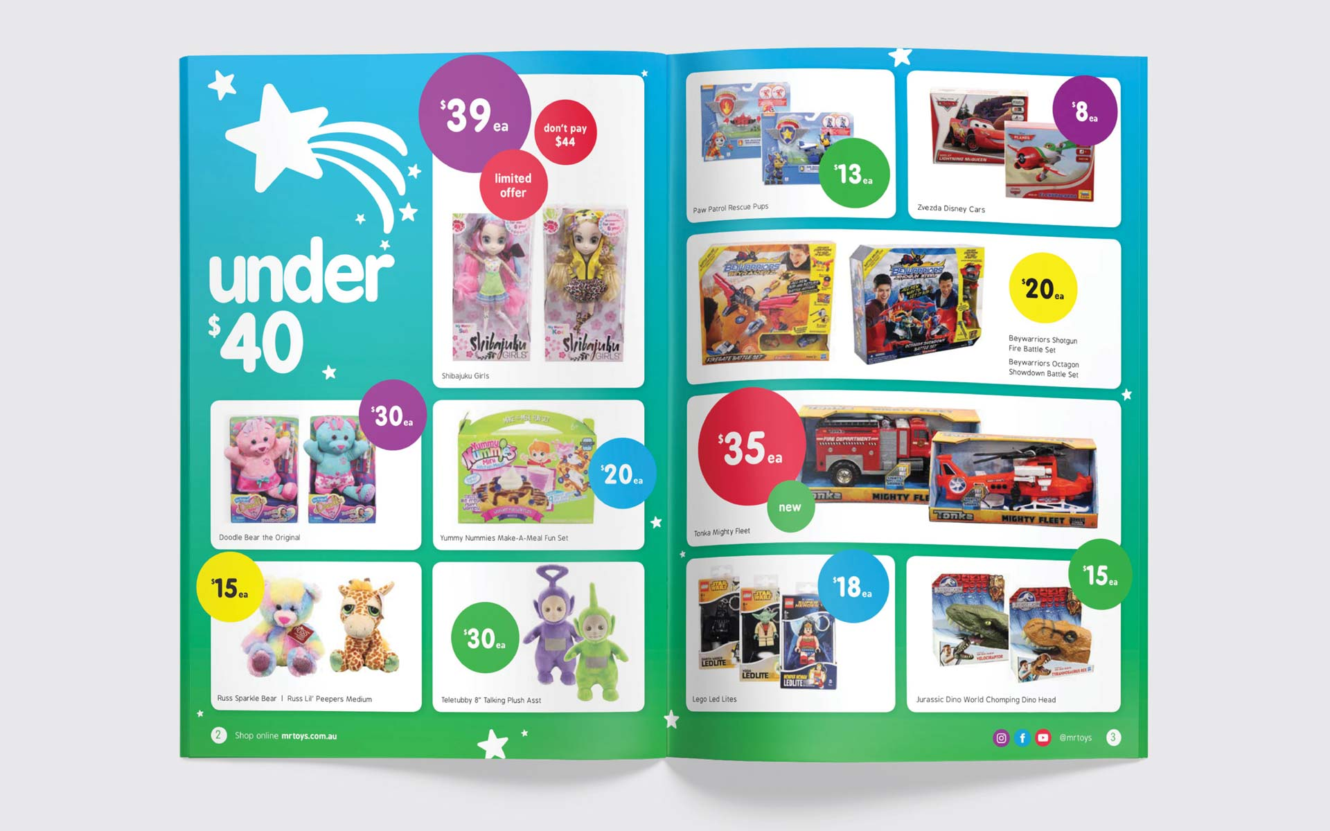 Mr Toys catalogue design Spread