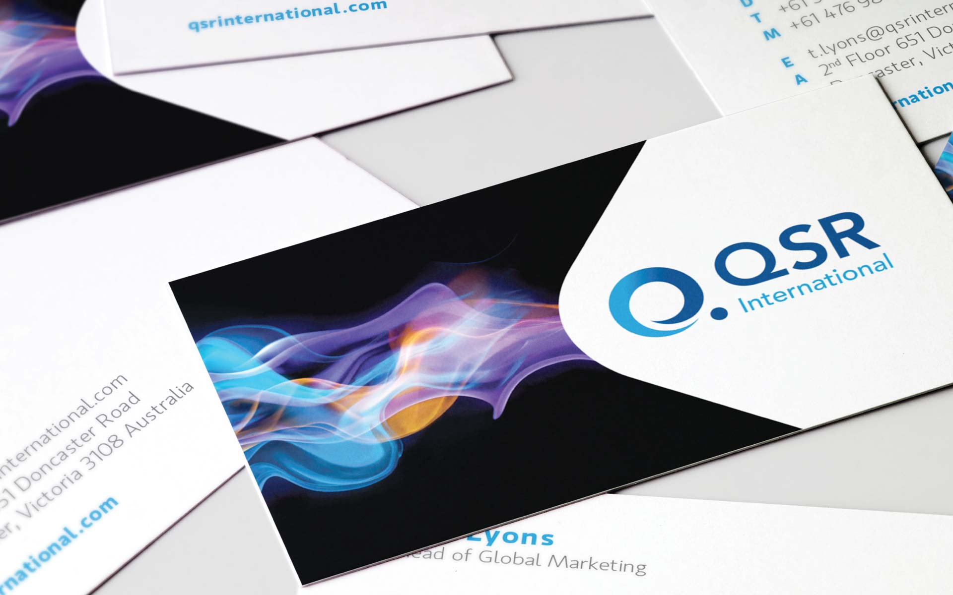 QSR International Brand Guidelines Design Business Cards