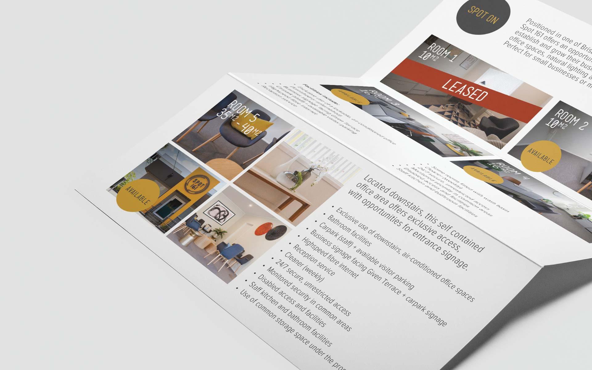 Spot 161 signage design Lease Brochure