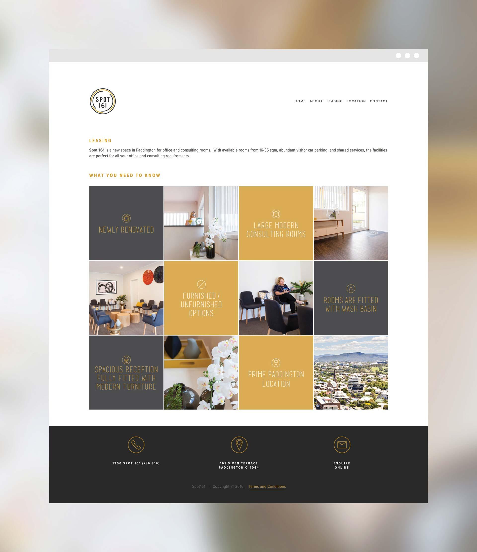 Spot 161 signage design Website Interface