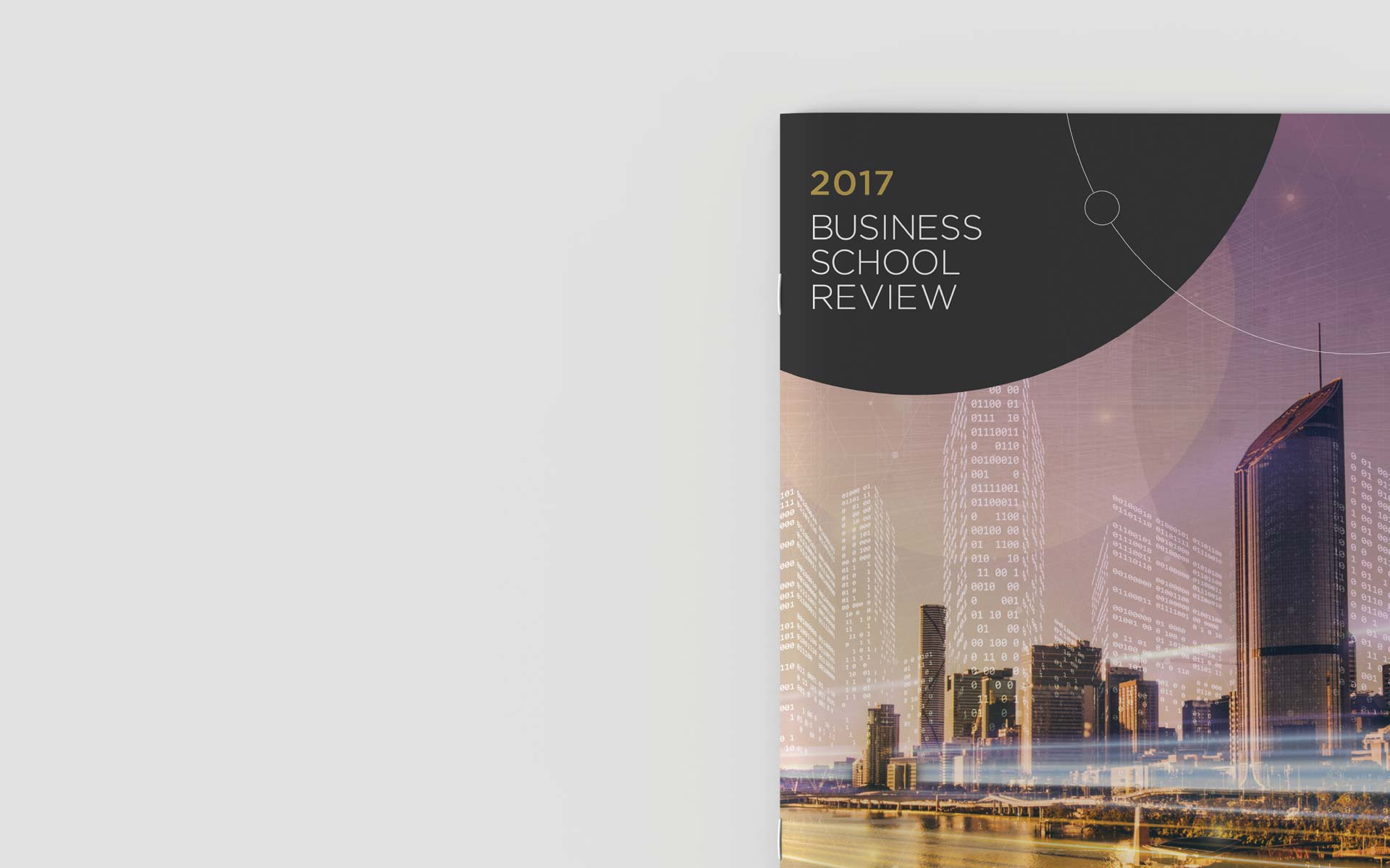 UQ Infographic Design Business Review Document Design