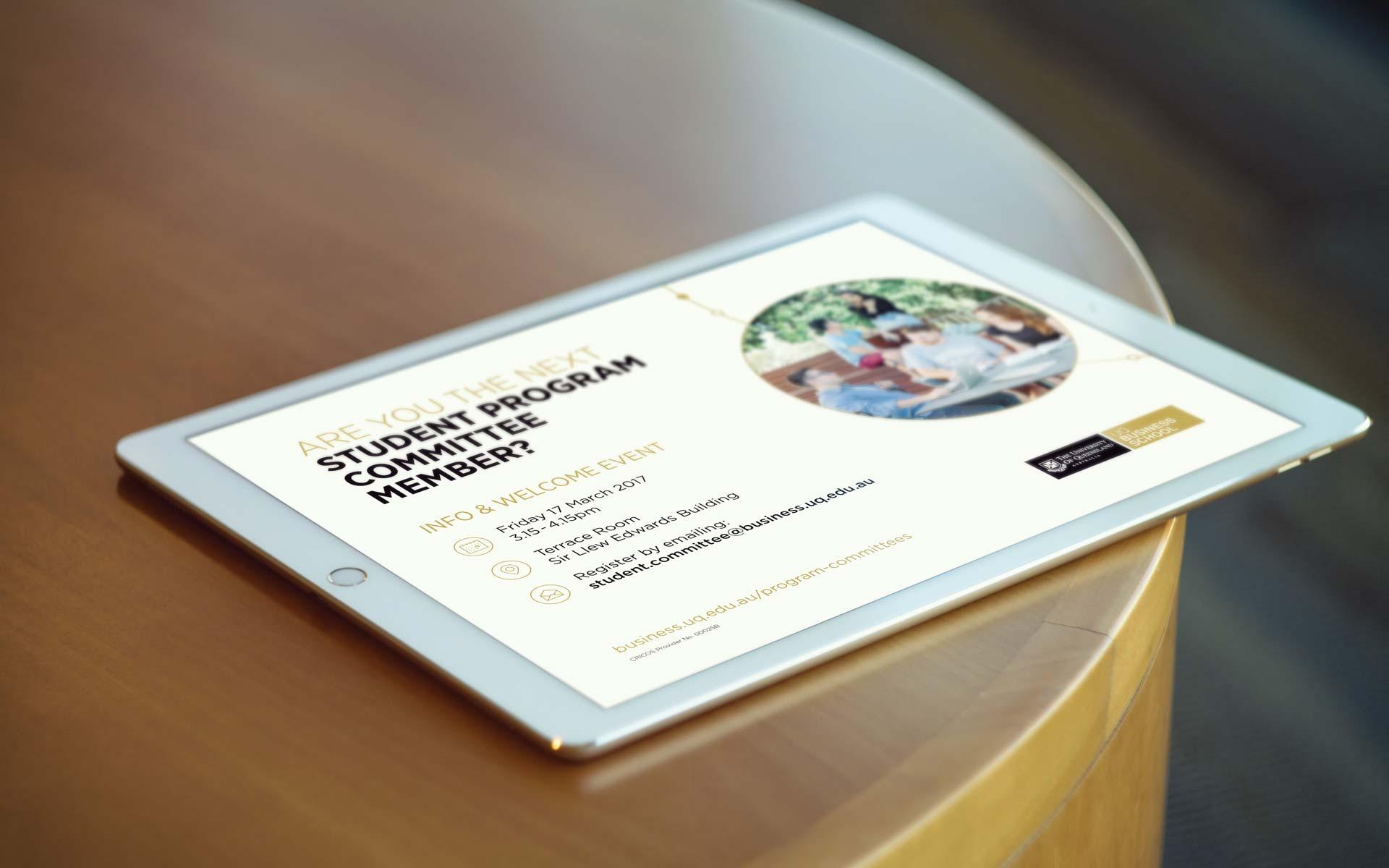 UQ Infographic Design Student Program Event Design