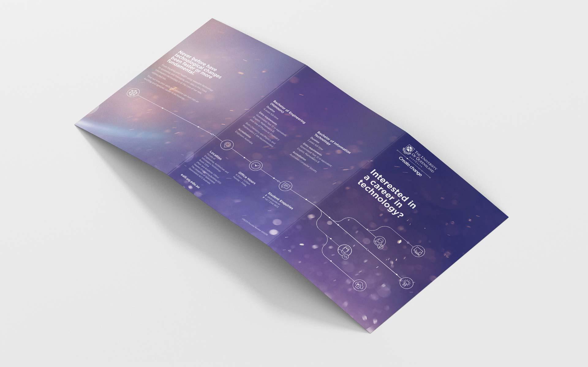 UQ Infographic Design Career Pathways Brochure