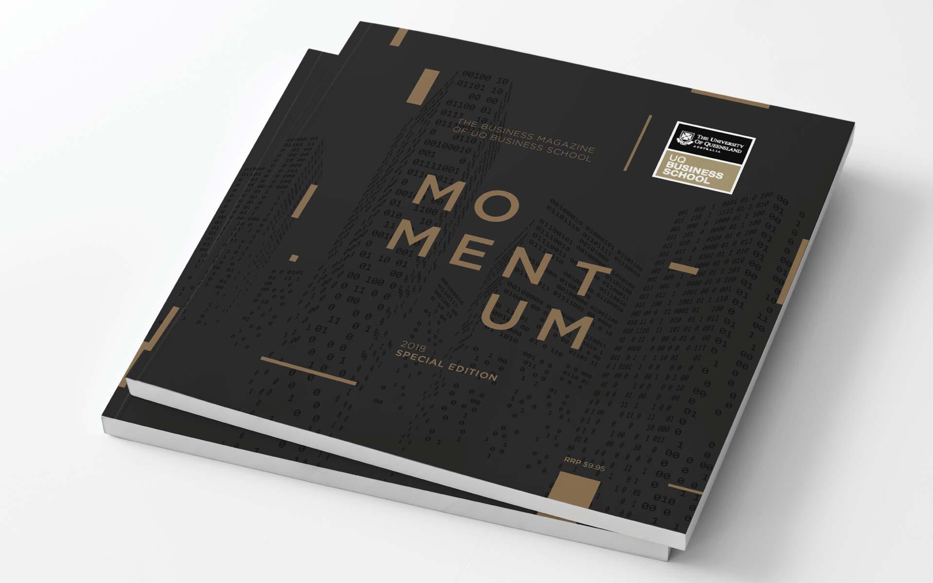 UQ Infographic Design Momentum Magazine