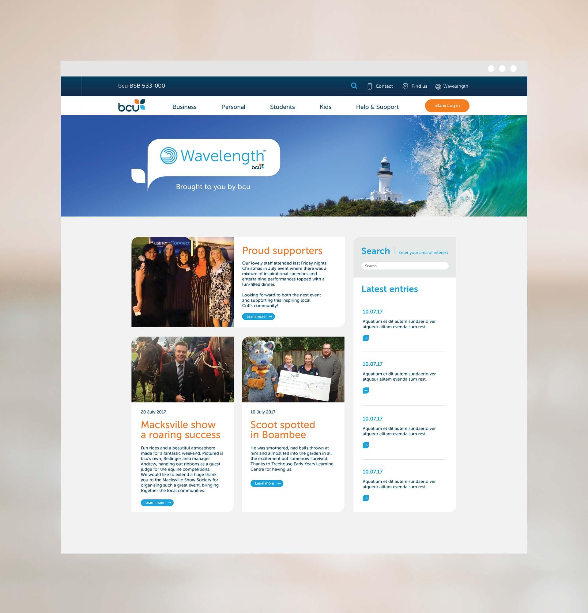 BCU User Experience Design Blog Interface Design